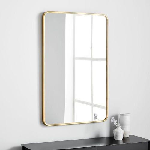 Used West Elm Modern Streamline Wall Mirror for sale on AptDeco