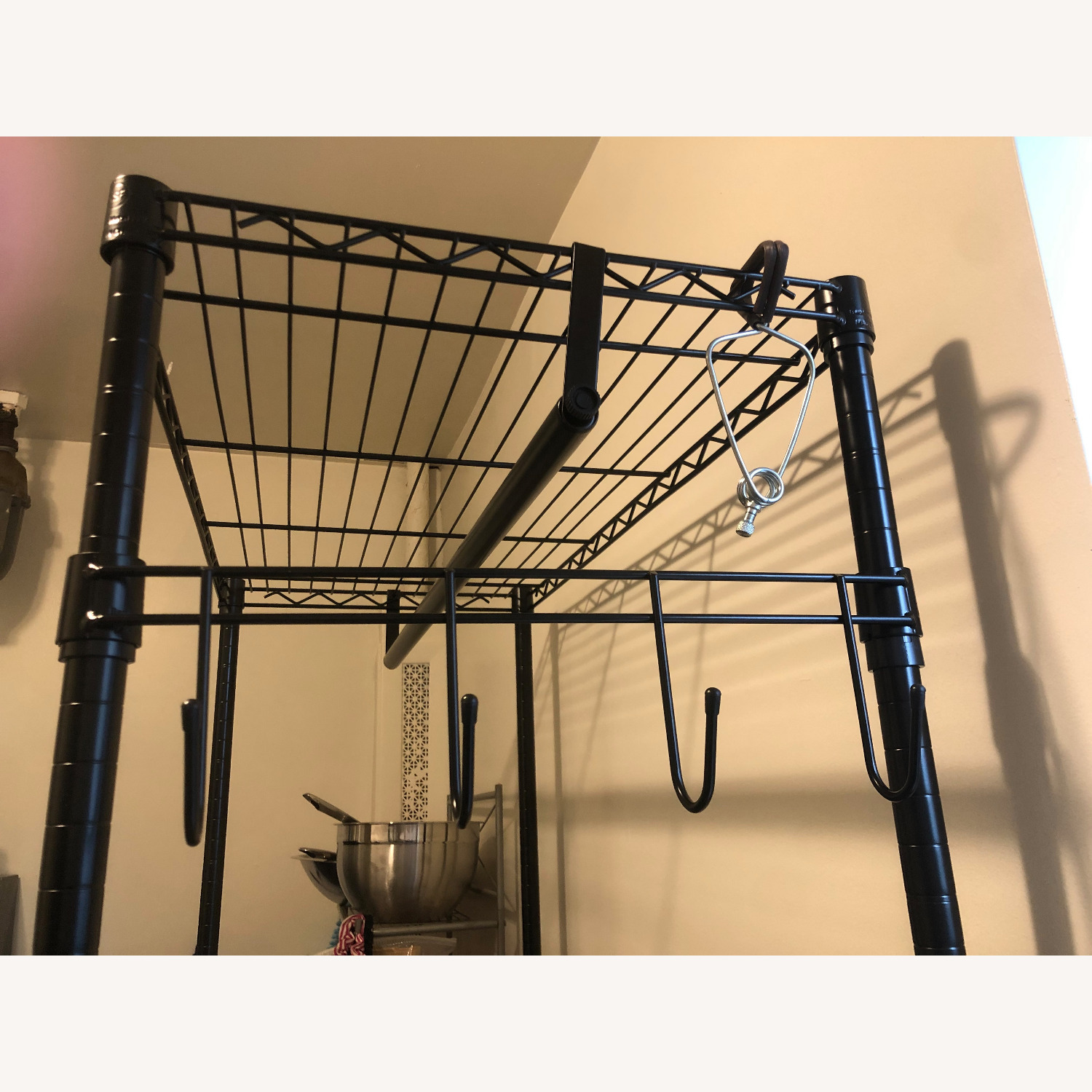 Rolling Garment Rack with Shelves - image-4
