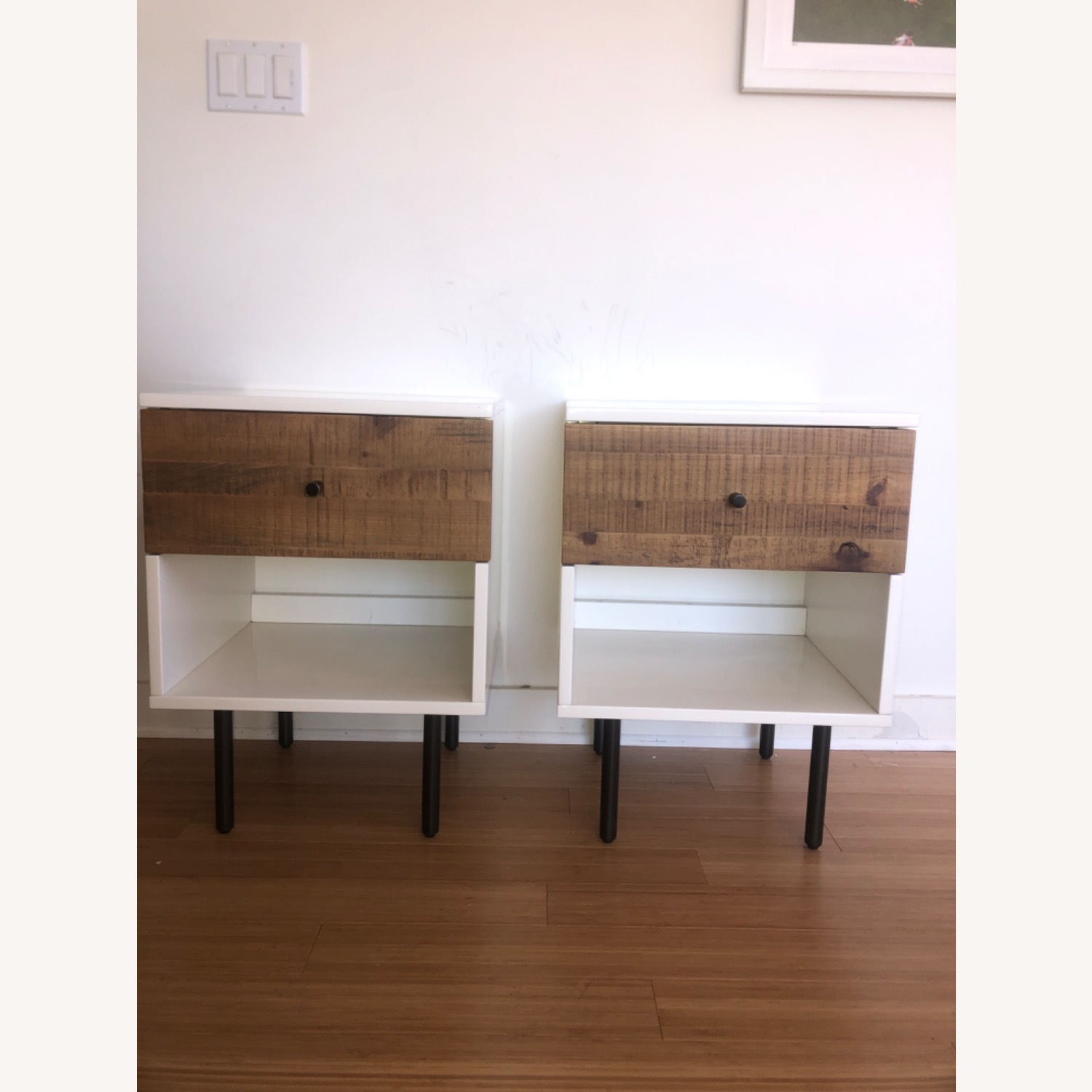 West Elm Wood and Lacquer Nightands (Set of 2) - image-4