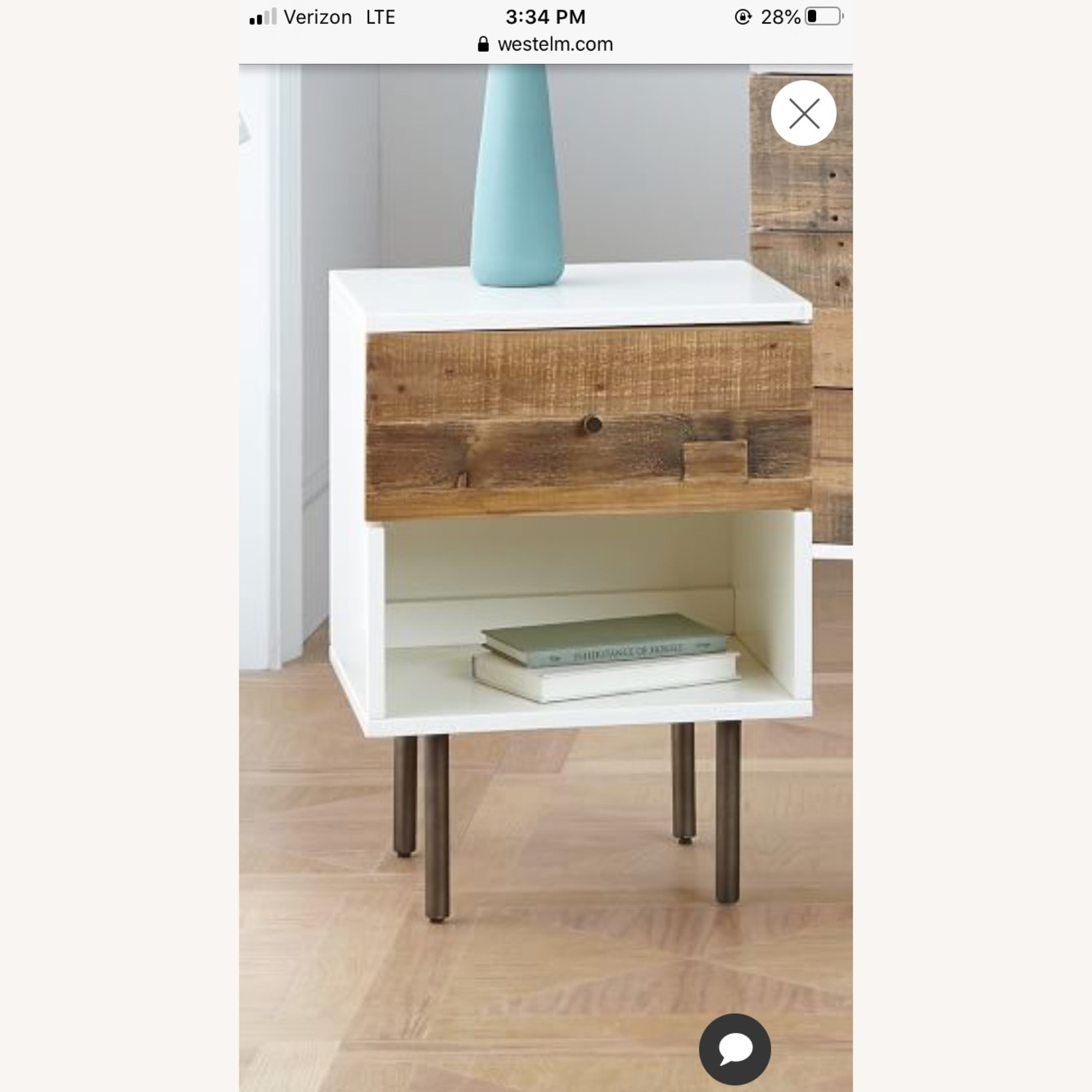 West Elm Wood and Lacquer Nightands (Set of 2) - image-3
