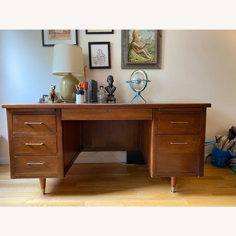 Mid-Century Modern Desk - Walnut - image-0