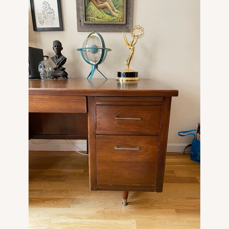 Mid-Century Modern Desk - Walnut - image-6