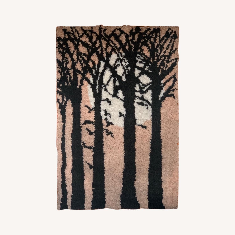 Huge Mid Century Tapestry Art - image-0