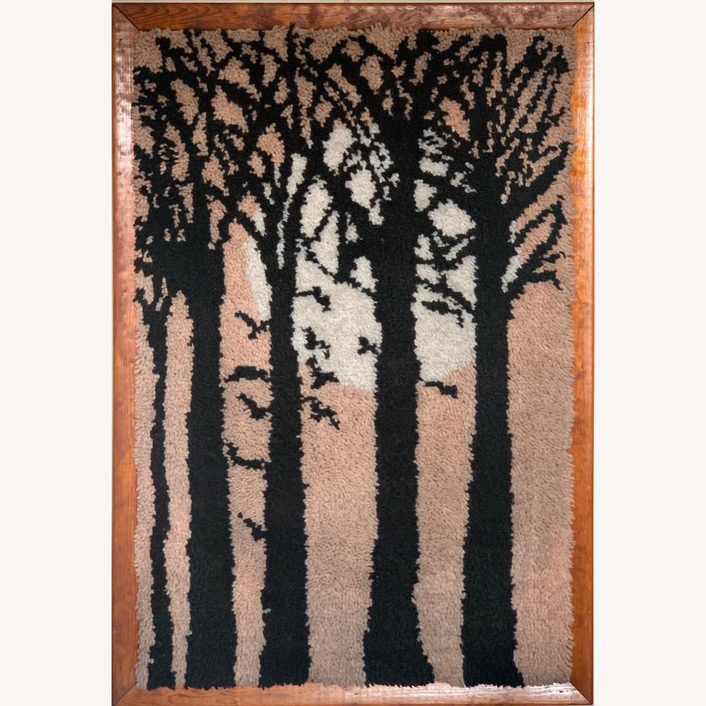 Huge Mid Century Tapestry Art - image-1
