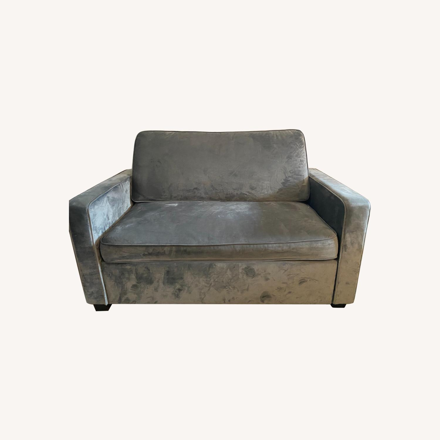 Loveseat with Pull-Out Twin Memory Foam Bed - image-0