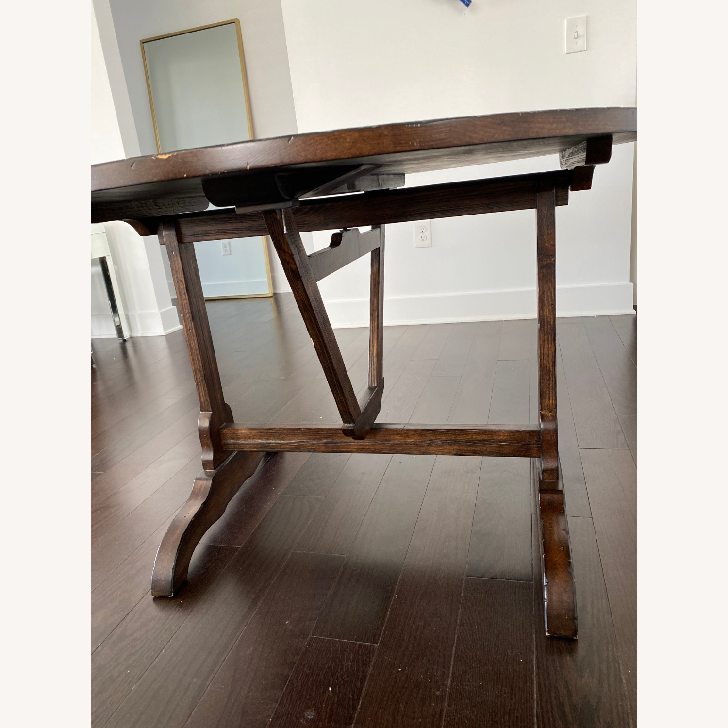 Pottery Barn Dining Table and Seagrass Chair Set - image-2
