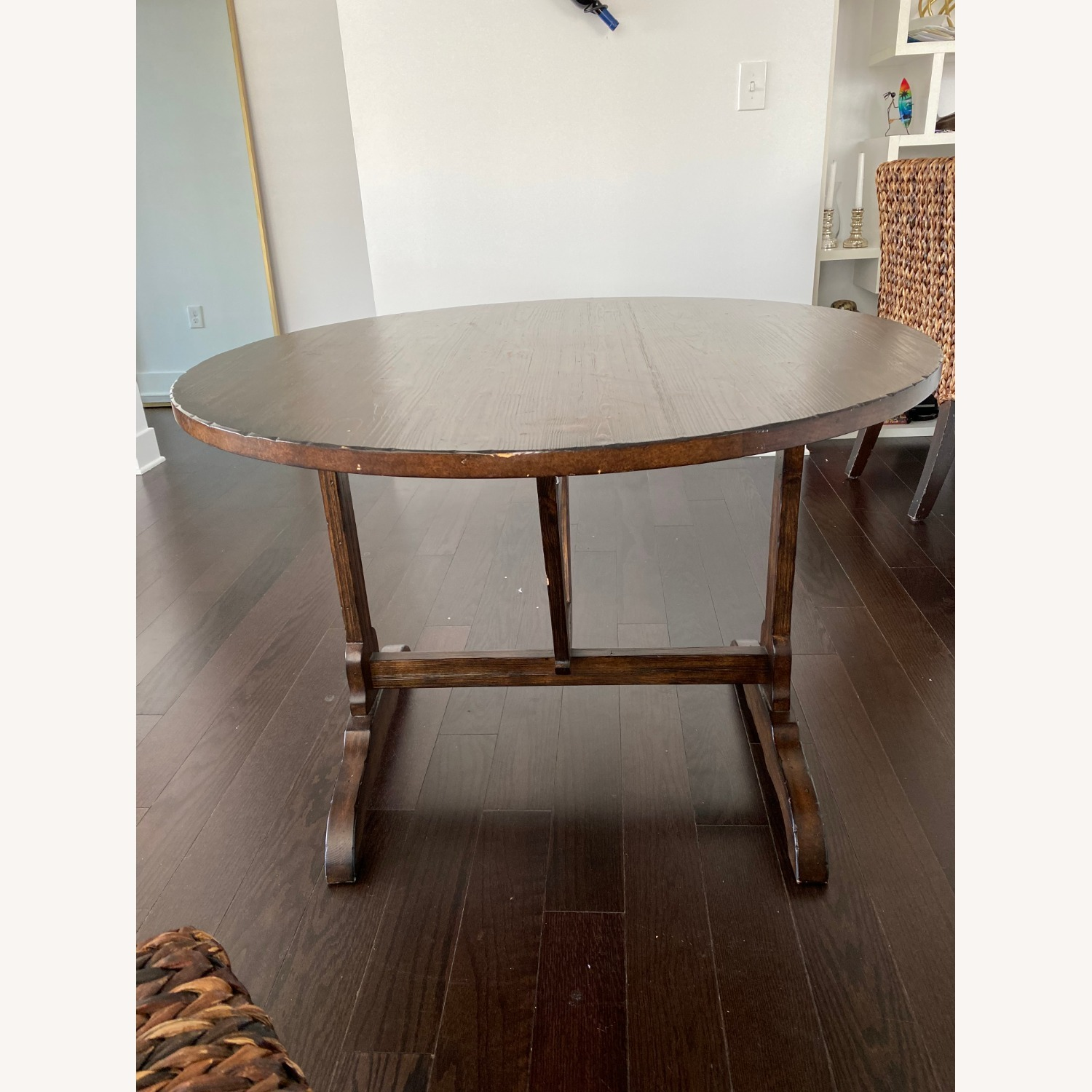 Pottery Barn Dining Table and Seagrass Chair Set - image-3