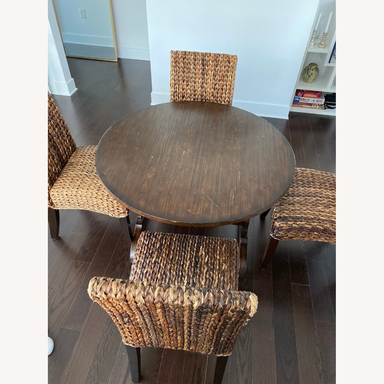 Pottery Barn Dining Table and Seagrass Chair Set - image-6