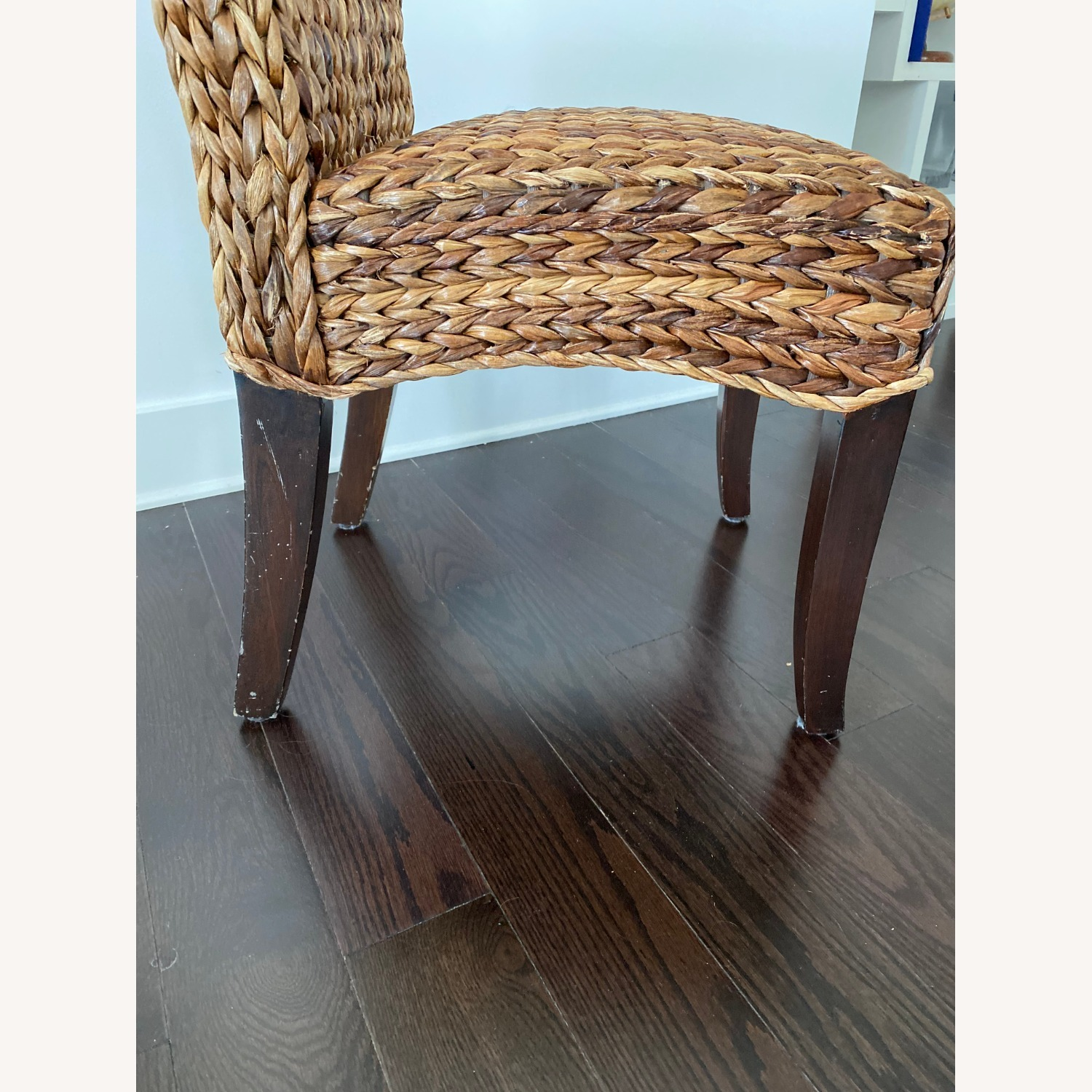 Pottery Barn Dining Table and Seagrass Chair Set - image-4