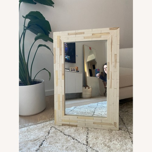 Used One Kings Lane Wood Mirror for sale on AptDeco