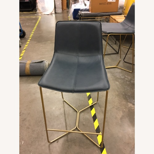Used West Elm Slope Leather Counter Stool for sale on AptDeco