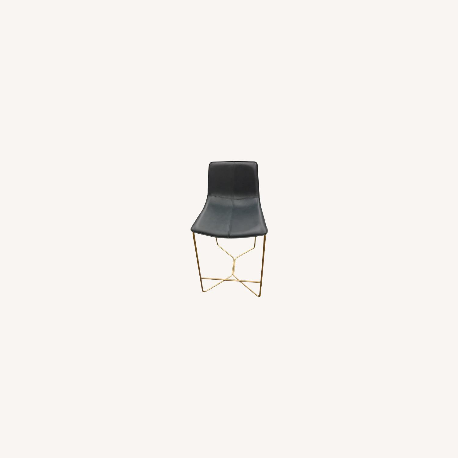 West Elm Leather Counter Stools - image-0