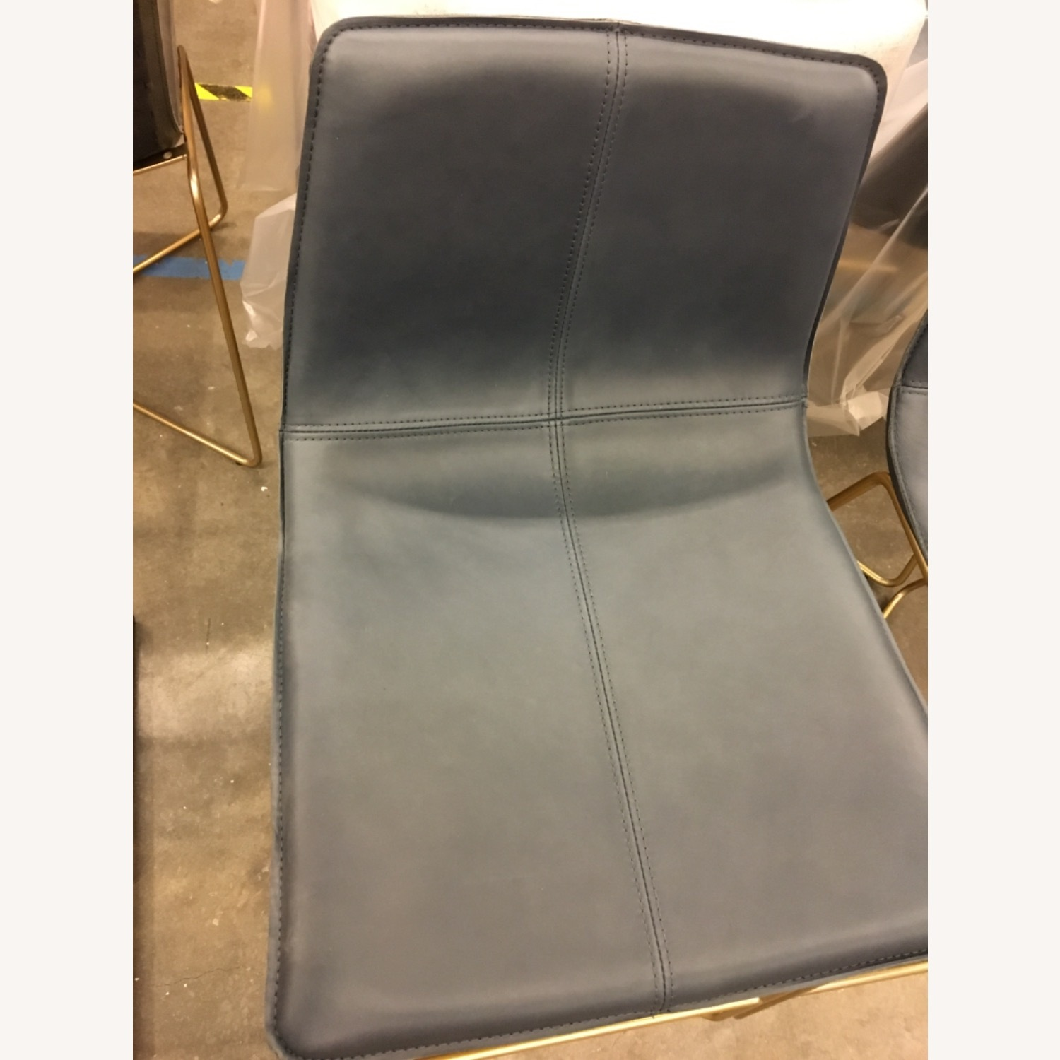 West Elm Leather Counter Stools - image-3