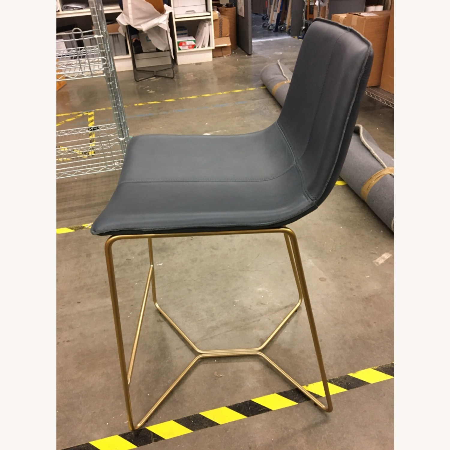 West Elm Leather Counter Stools - image-5