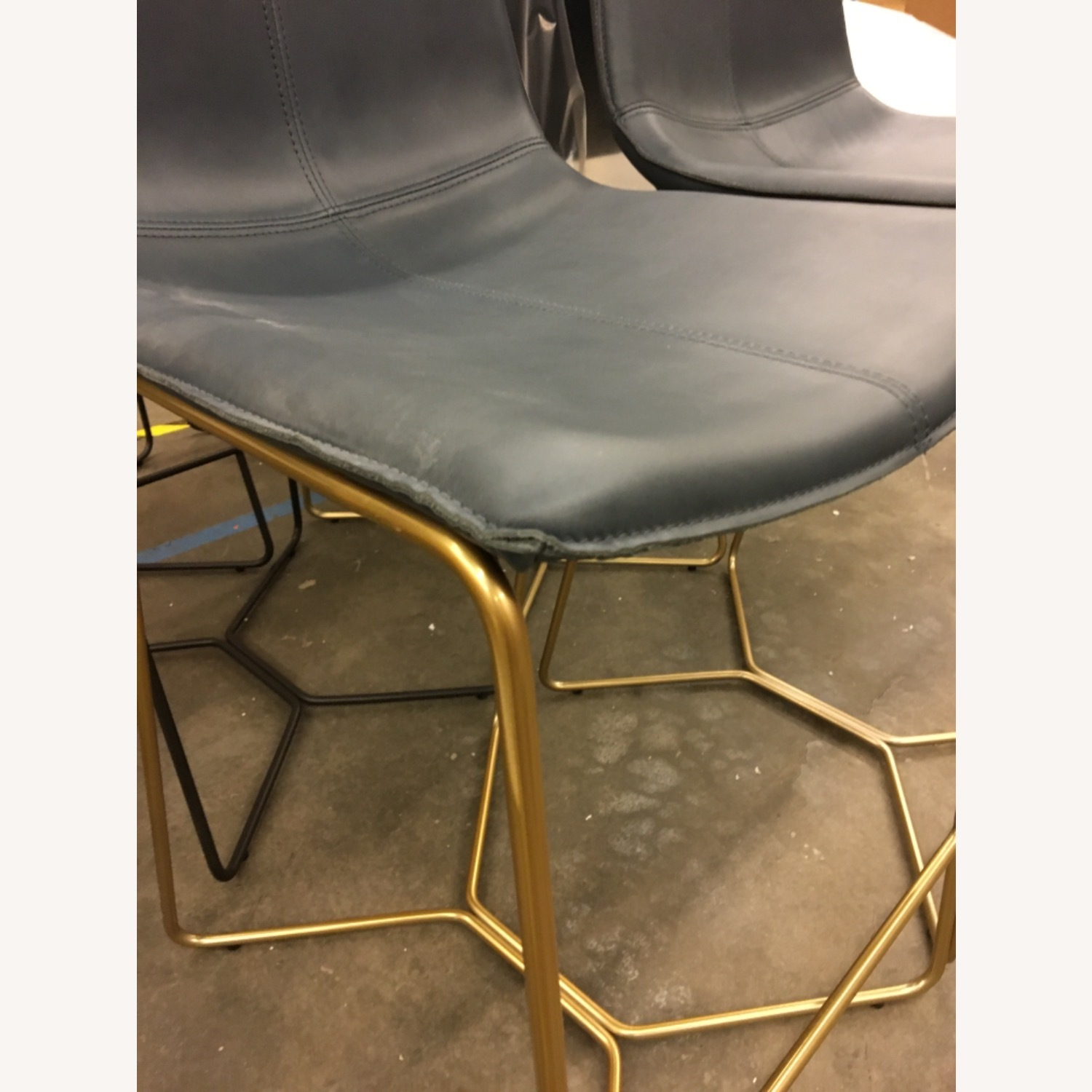 West Elm Leather Counter Stools - image-2