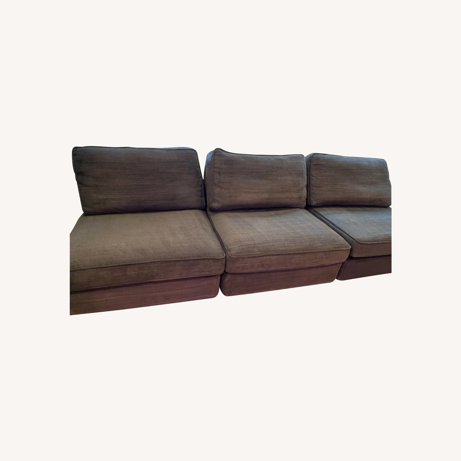 IKEA Espresso Brown Sectional - image-0