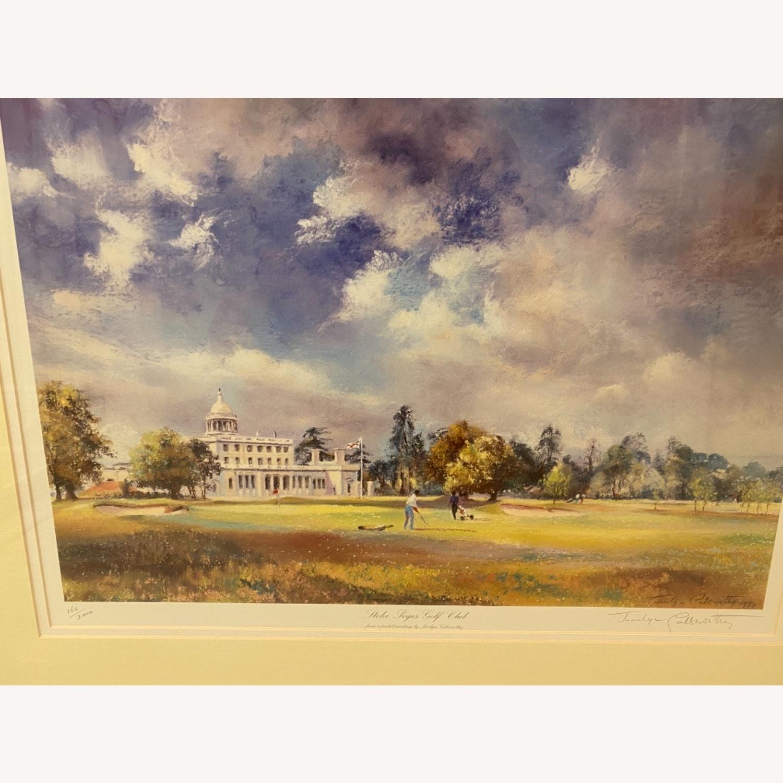 Stoke Poges Golf Club Watercolor - image-1