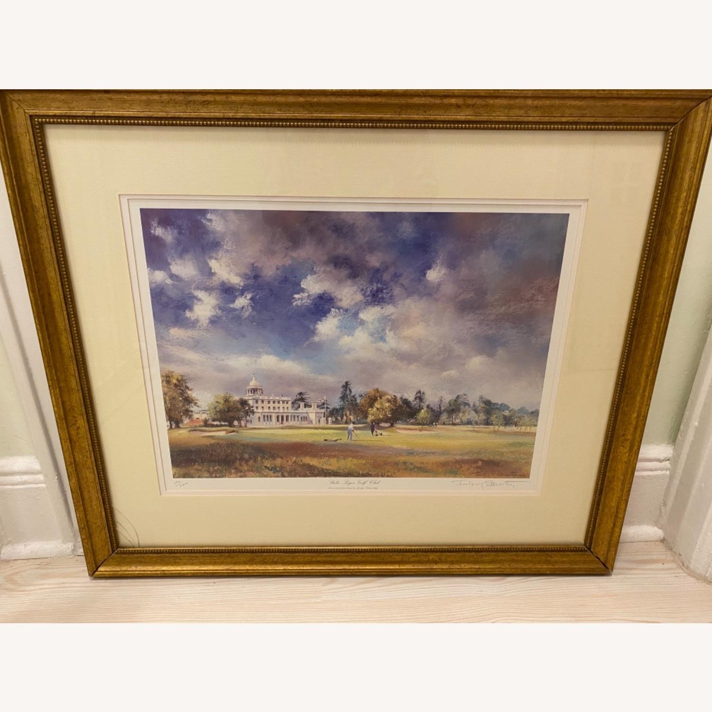 Stoke Poges Golf Club Watercolor - image-0