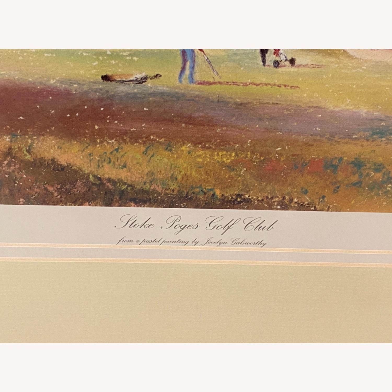 Stoke Poges Golf Club Watercolor - image-2
