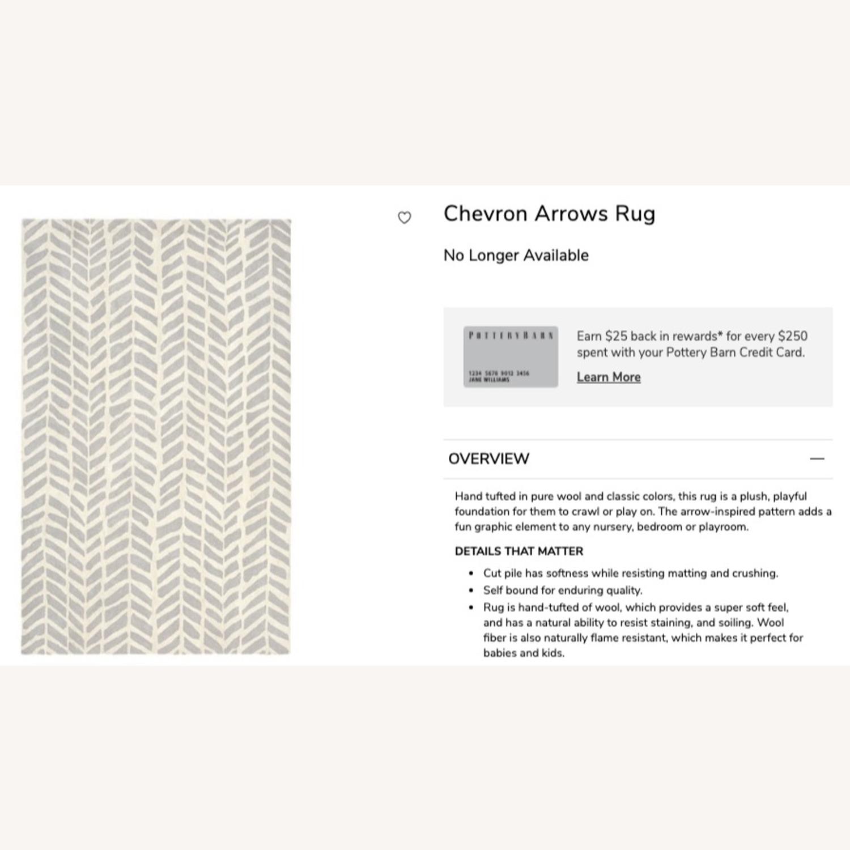 Pottery Barn Hand-tufted Gray Wool Chevron Arrow Rug - image-4