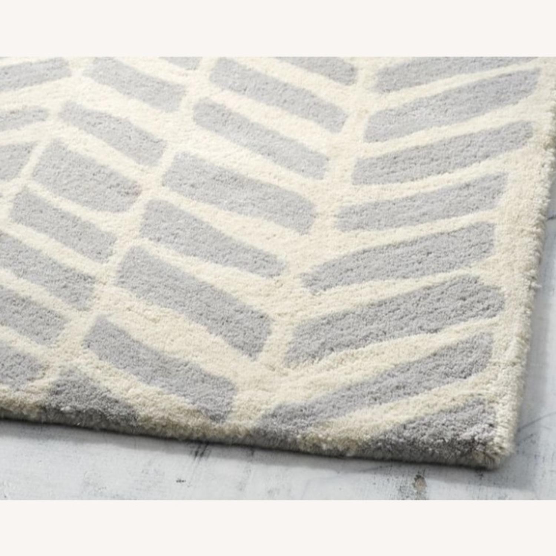 Pottery Barn Hand-tufted Gray Wool Chevron Arrow Rug - image-1