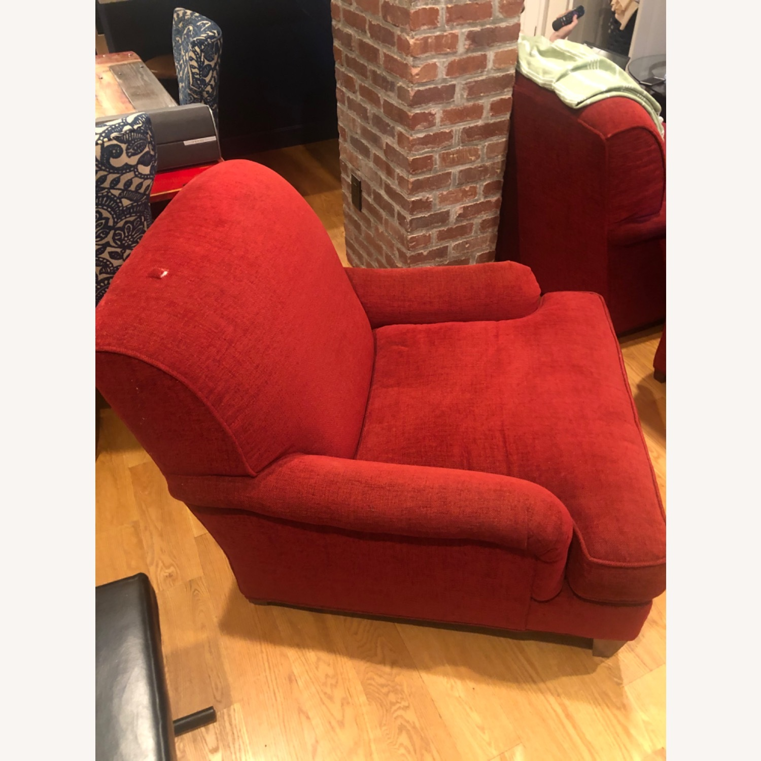Picture of: Crate Barrel Red Arm Chair Aptdeco