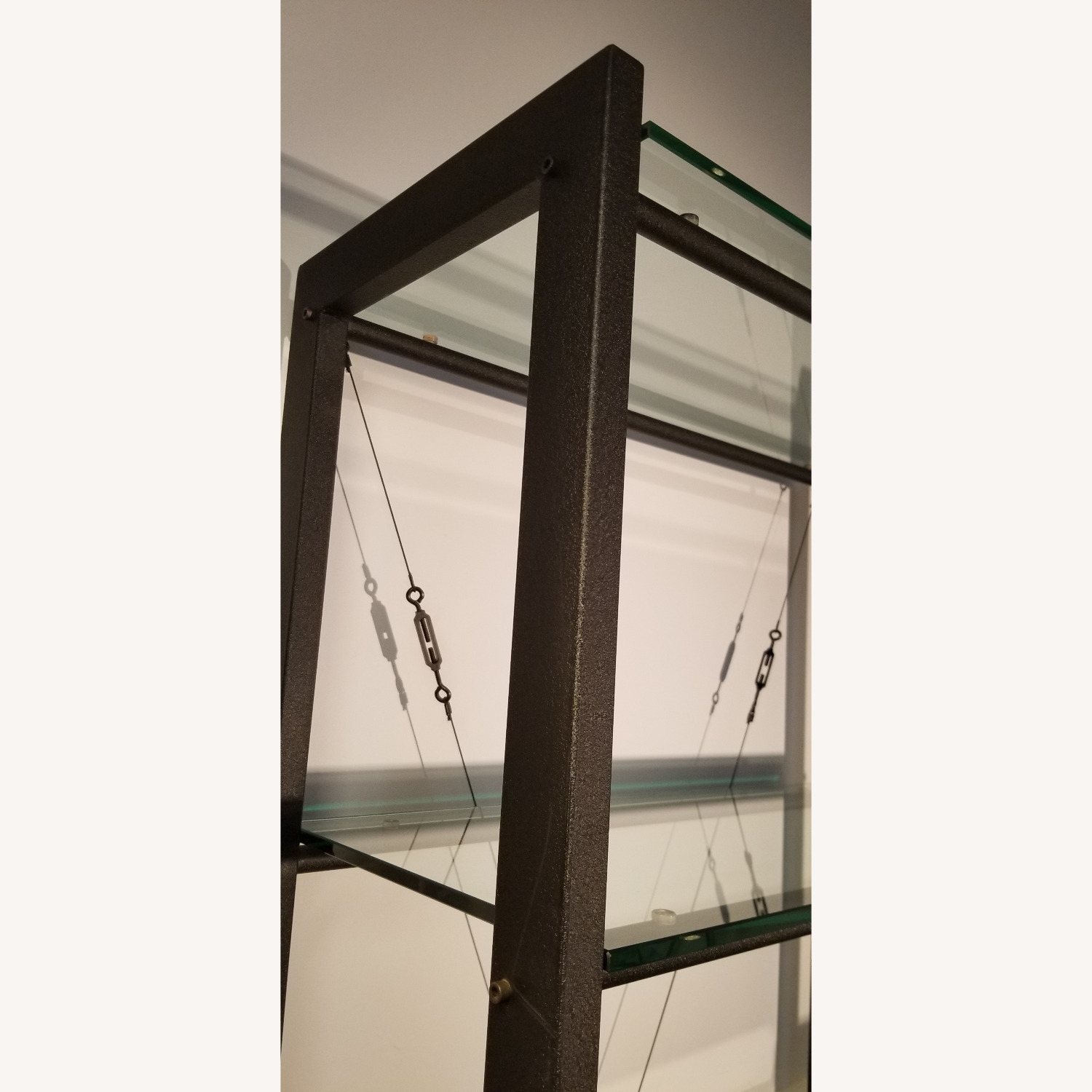 Jensen-Lewis 5-shelf Metal & Glass Bookshelf - image-4