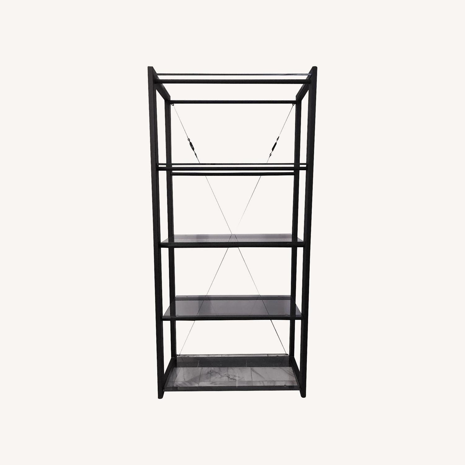 Jensen-Lewis 5-shelf Metal & Glass Bookshelf - image-0