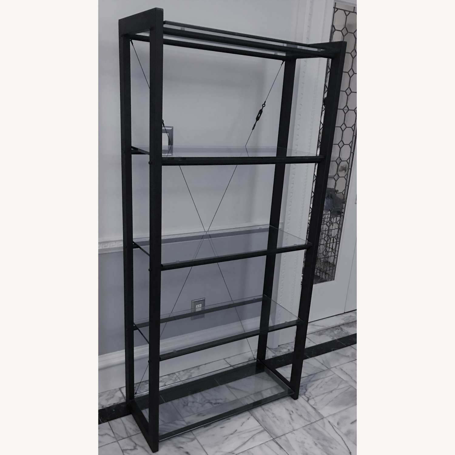 Jensen-Lewis 5-shelf Metal & Glass Bookshelf - image-3