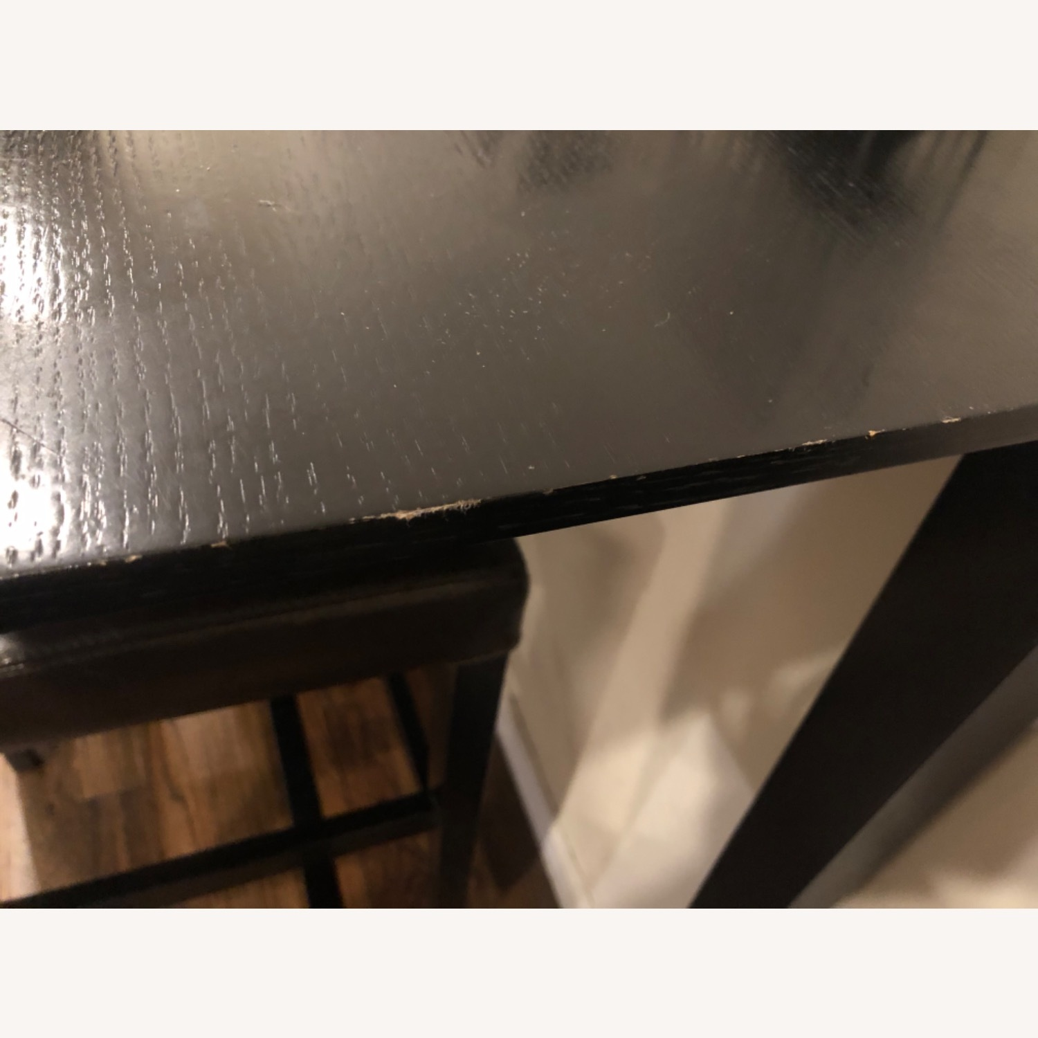 Crate and Barrel Brown Dining Table and 4 Chairs - image-5