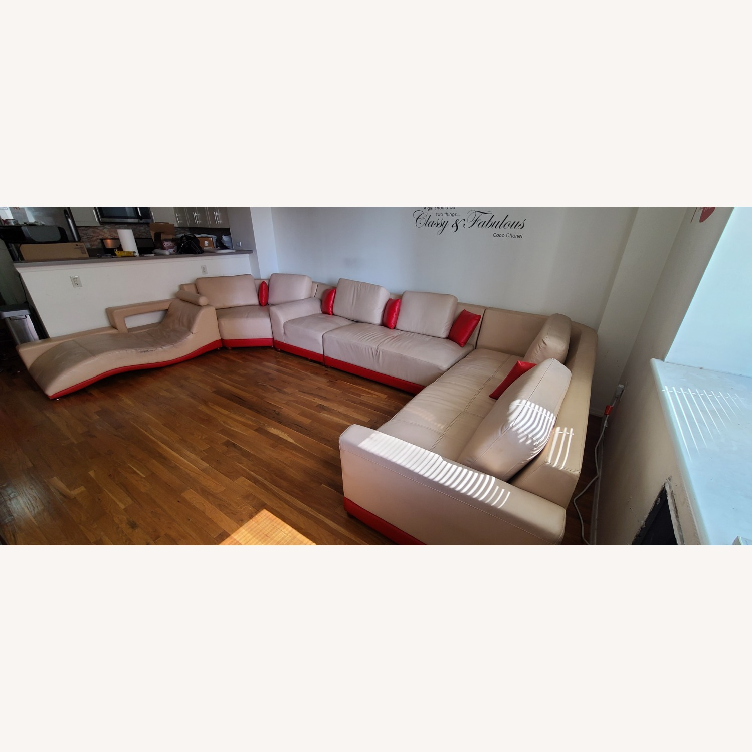 Italian leather 5 Piece Sectional - image-2