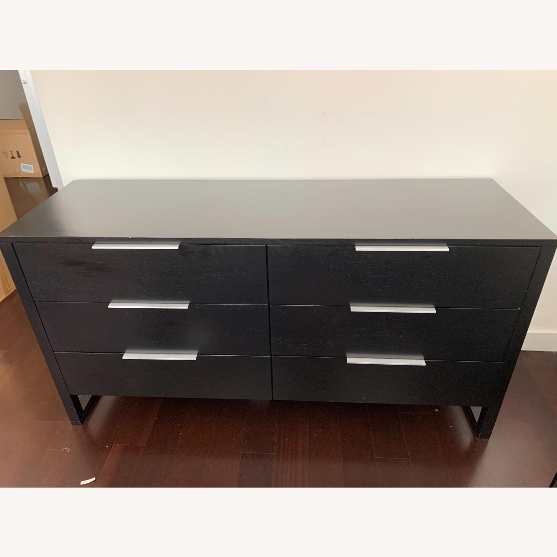 Crate & Barrel Loop 6 Drawer Dresser - image-1