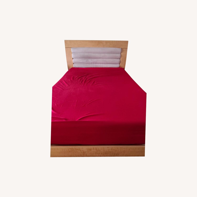 Queen Bed Microfiber Headboard - image-0