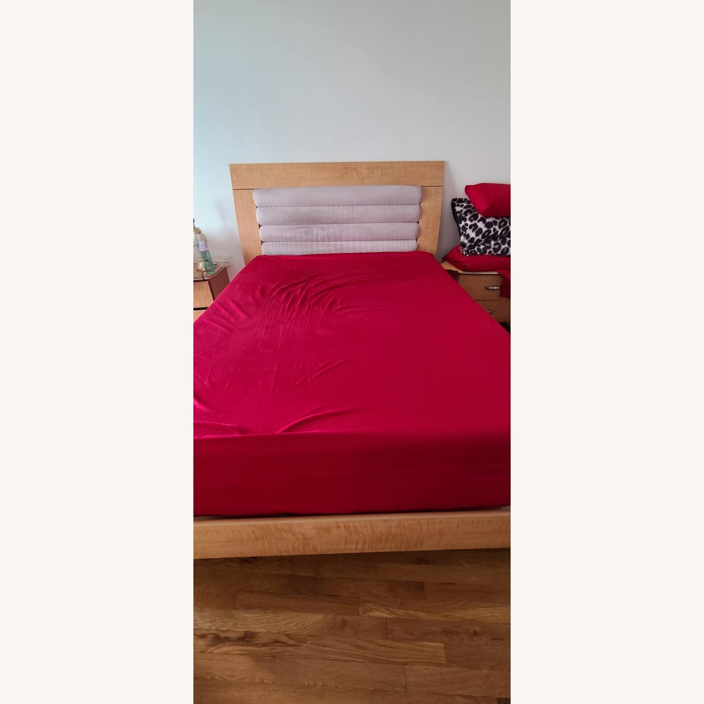 Queen Bed Microfiber Headboard - image-1