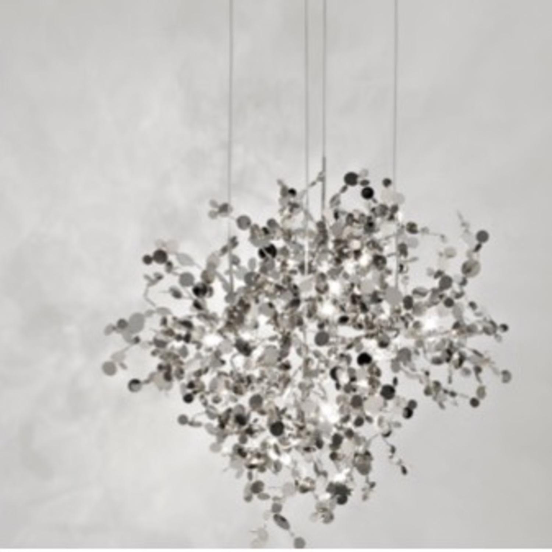 Roche Bobois Stainless Steel Pendant Light - image-0