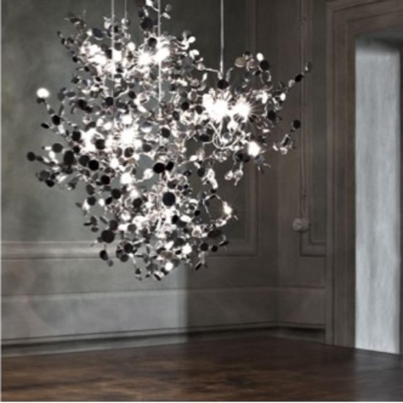 Roche Bobois Stainless Steel Pendant Light - image-4