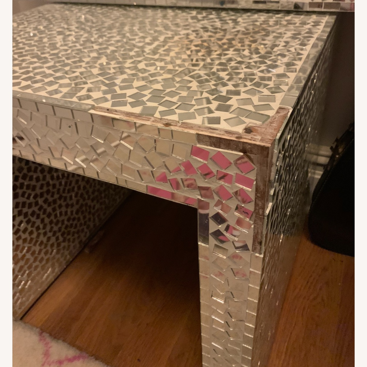 Vintage Mosaic Mirror Stand / Side table - image-3