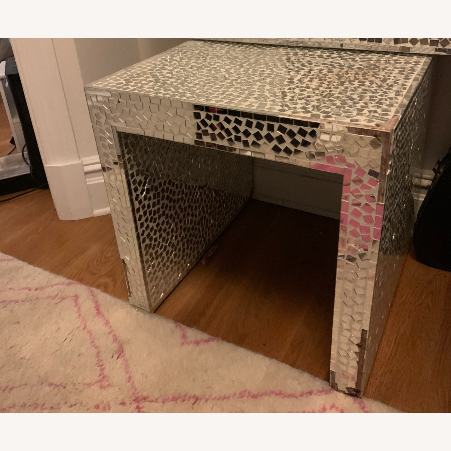 Vintage Mosaic Mirror Stand / Side table - image-1