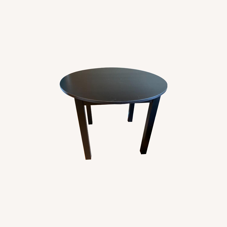 IKEA Dark Brown Round Dining Kitchen Table - image-0