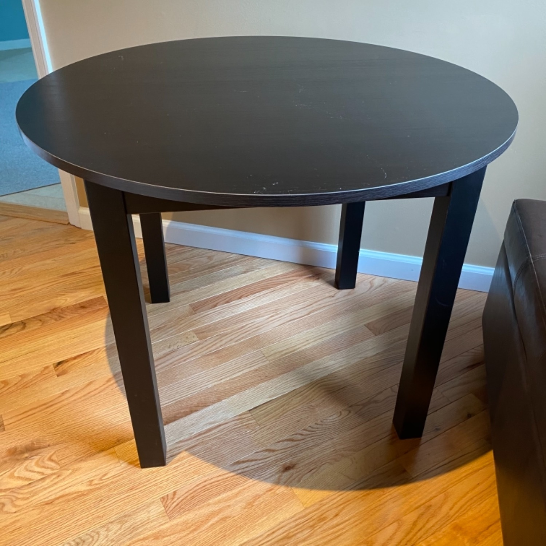 IKEA Dark Brown Round Dining Kitchen Table - image-2