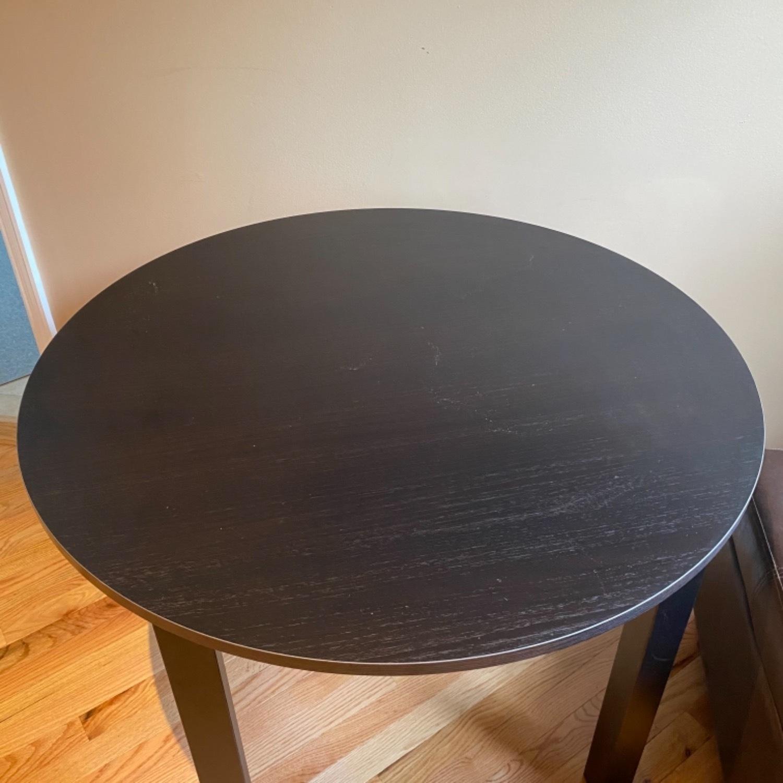 IKEA Dark Brown Round Dining Kitchen Table - image-8