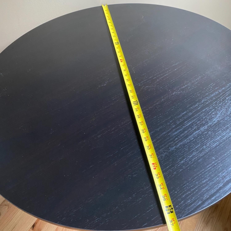 IKEA Dark Brown Round Dining Kitchen Table - image-5
