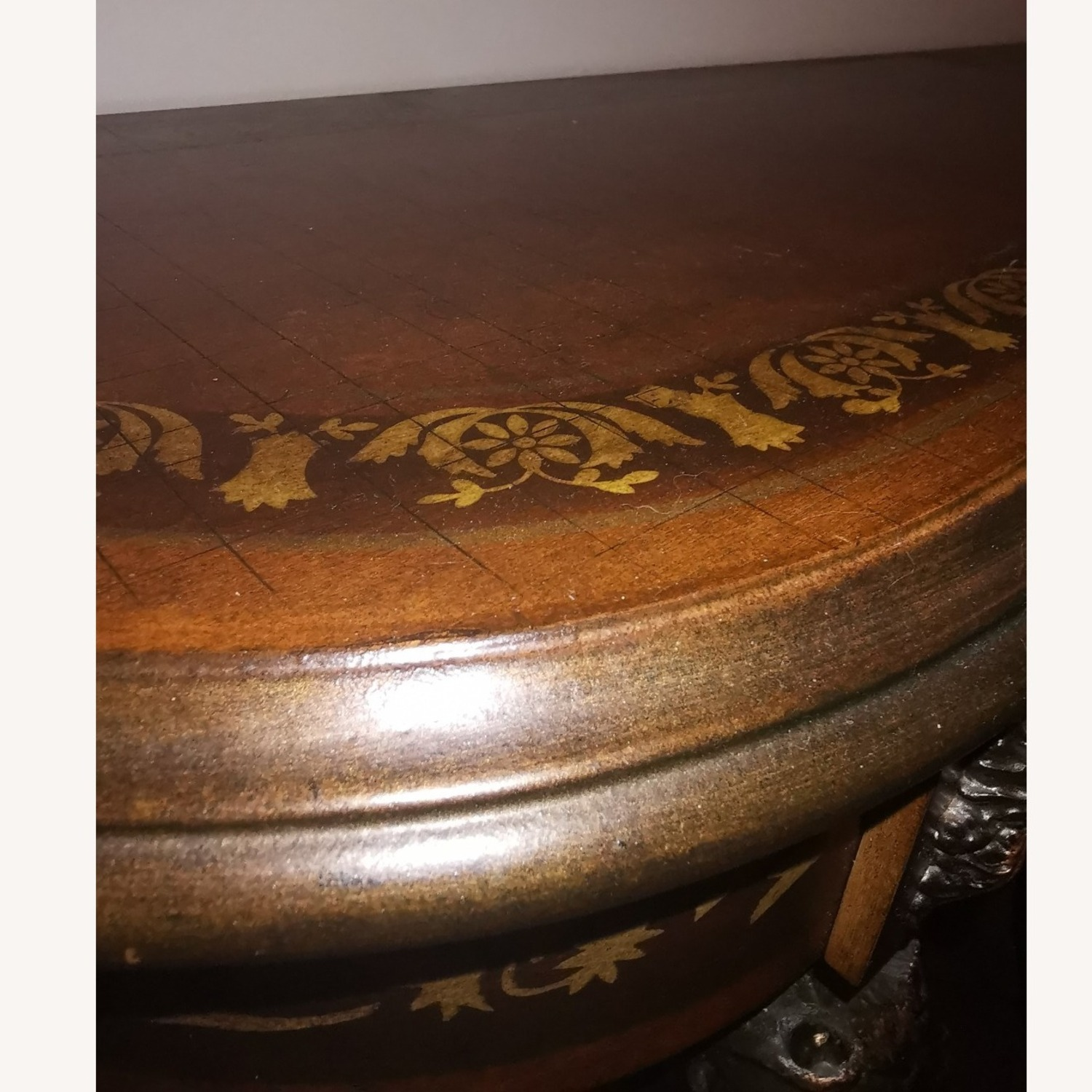 Powell Masterpiece Floral Demilune Console Table - image-4
