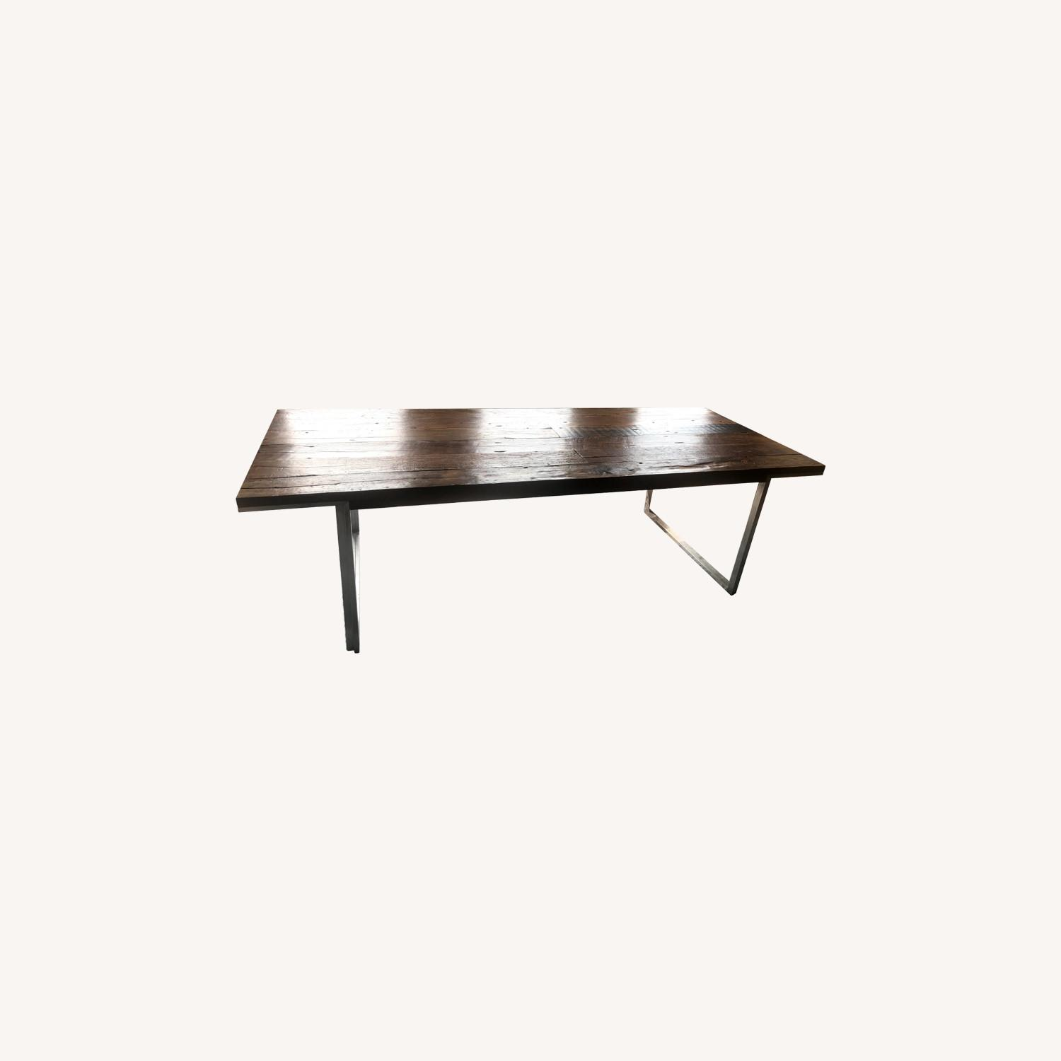 ABC Carpet and Home Wood and Steel Dining Table - image-0