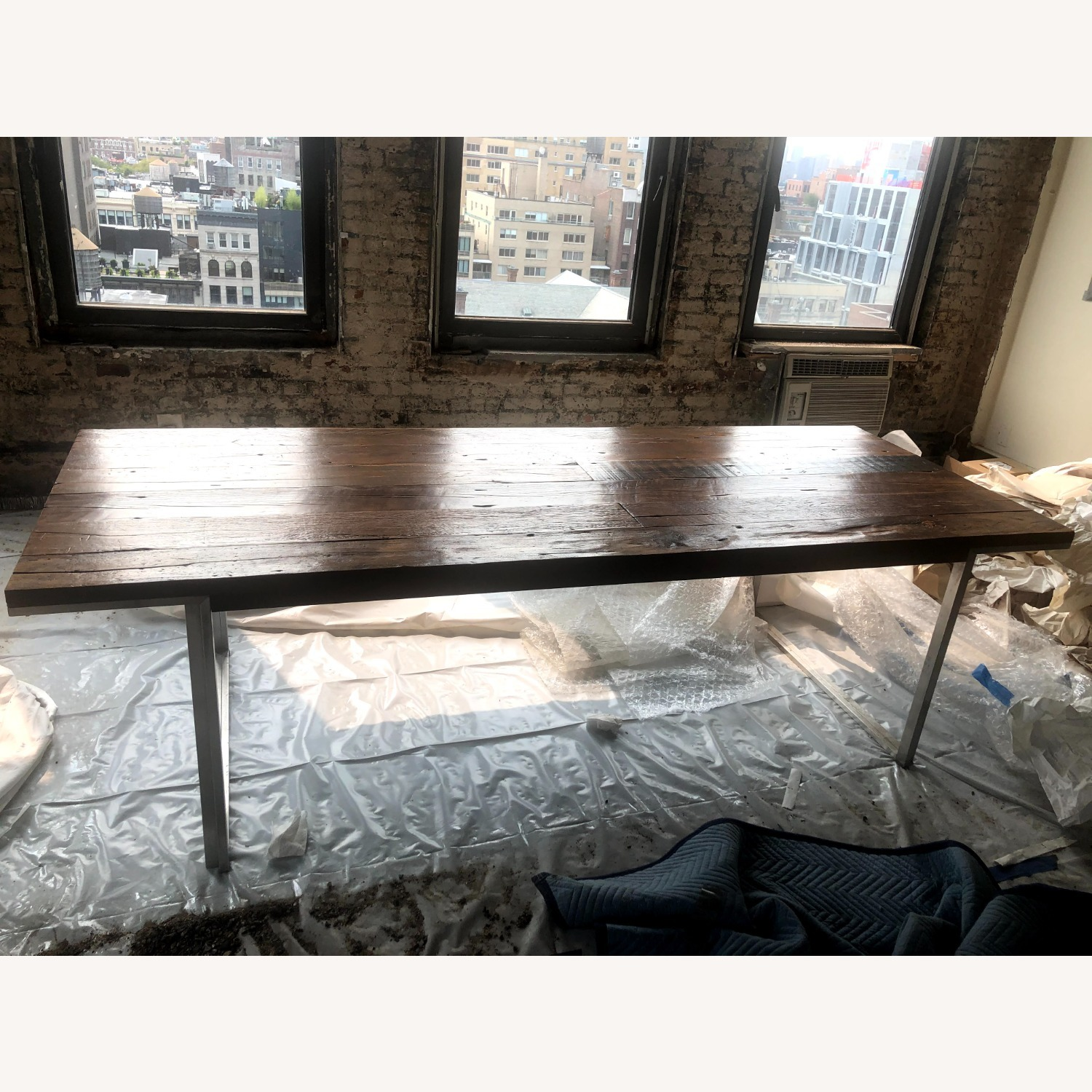 ABC Carpet and Home Wood and Steel Dining Table - image-1