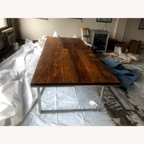 Used ABC Carpet and Home Wood and Steel Dining Table for sale on AptDeco