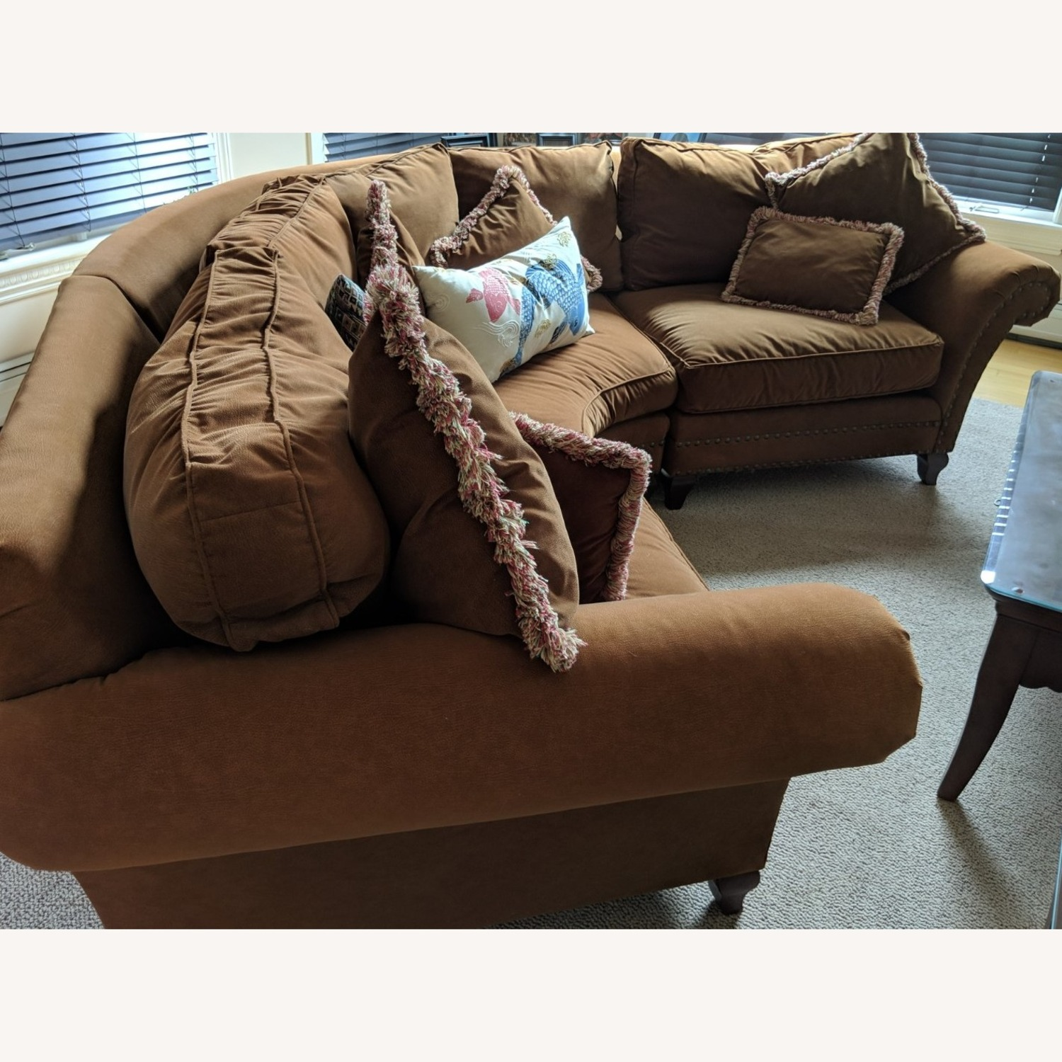 Faux Suede Rowe Couch - image-2