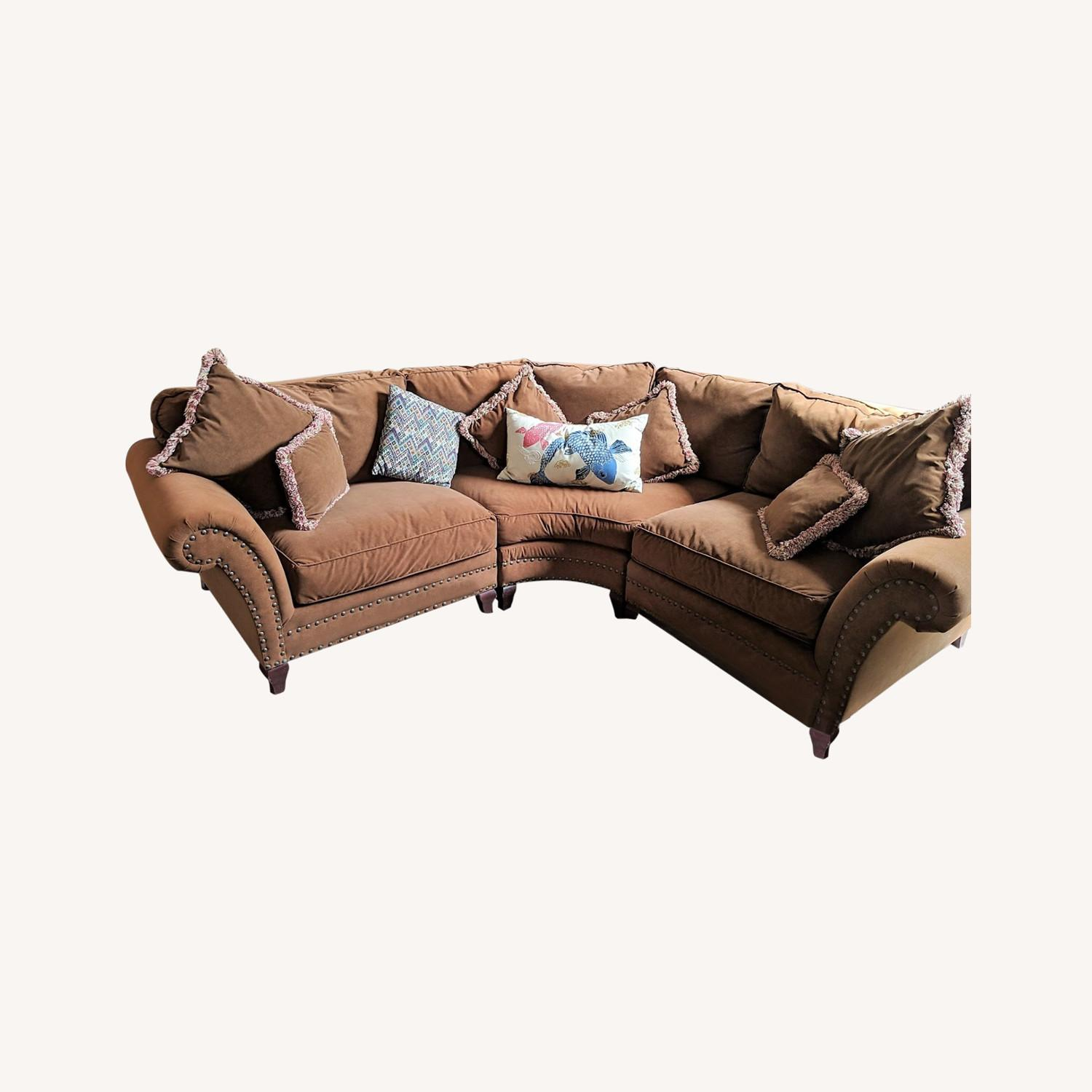 Faux Suede Rowe Couch - image-0