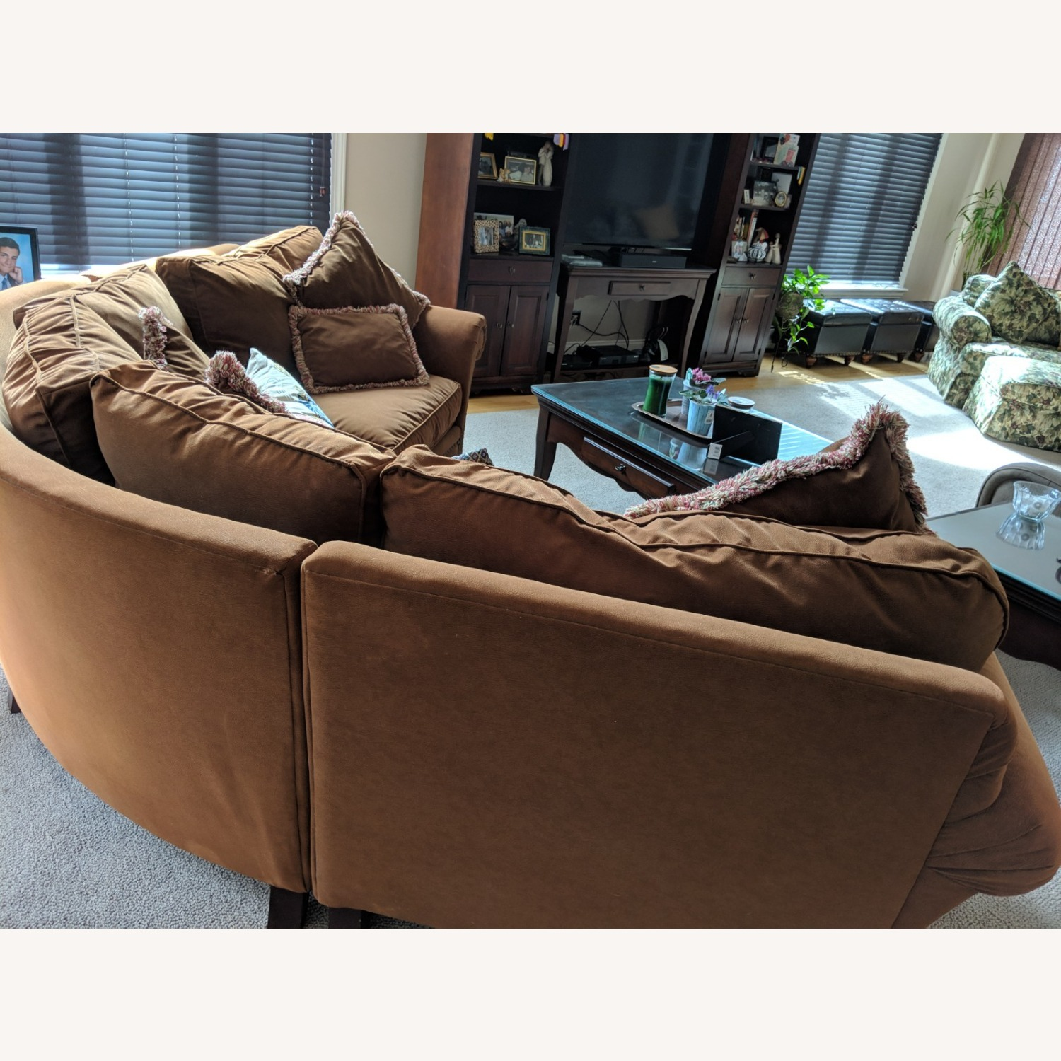 Faux Suede Rowe Couch - image-3