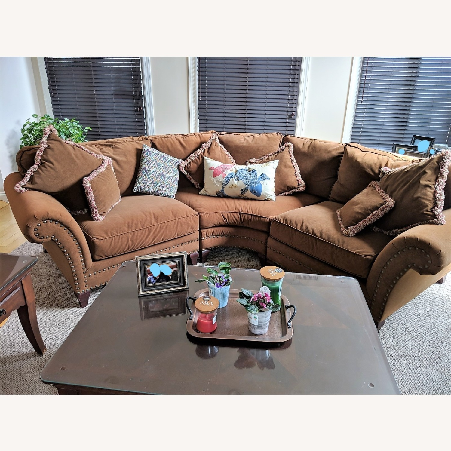 Faux Suede Rowe Couch - image-4